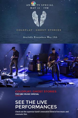 4106-LSQT Coldplay Ghost Stories Live